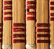 Texture of old bamboo branches with threads. Stock Photo