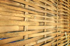 Texture of old bamboo fence of house in rural. Texture of old bamboo fence of house in rural Thailand Royalty Free Stock Photos