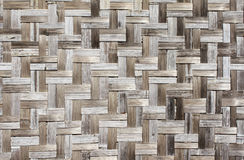 Texture of old bamboo mat Stock Photography
