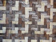 Texture of old bamboo mat Stock Photos