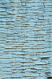Texture of the old blue paint on wood Royalty Free Stock Image