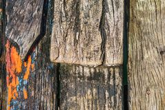 Texture of old boat plank. View on texture of old boat plank Royalty Free Stock Images