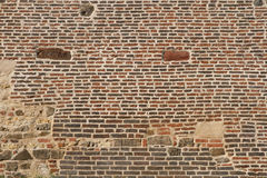 Texture of old brick fortress wall Royalty Free Stock Images