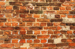 Texture of old brick wall Royalty Free Stock Photos