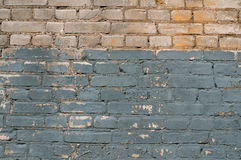 Texture of old brick wall, painted blue Royalty Free Stock Photo