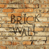 Texture of the old brick wall. Realistic vector texture: dirty and old brick wall Stock Photo
