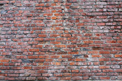 Texture of old brick wall. The texture of the old wall of red brick Royalty Free Stock Photography