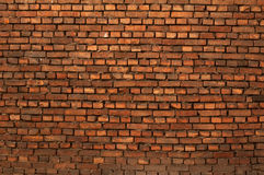 Texture of old brick wall red curve Stock Photography