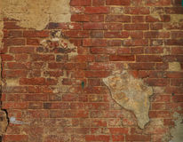 Texture of old brick wall on the street. Texture of old brick wall Royalty Free Stock Photos