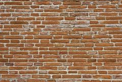 Texture of old brick wall. Picture in retro and vintage tone Royalty Free Stock Photos