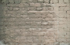 Texture of old brick walls, painted gray paint Stock Photo