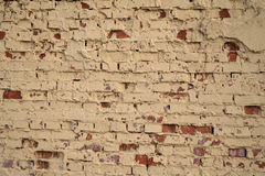 Texture of old brick walls, painted gray paint Stock Photos