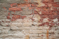 Texture of old brick walls, painted gray paint Royalty Free Stock Images