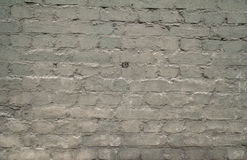 Texture of old brick walls, painted gray paint Royalty Free Stock Photos