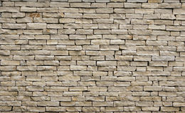 Texture of old brickwork. Rough brick wall royalty free stock image