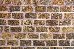 Texture of old brown wall brick  vintage style. Background Stock Photography