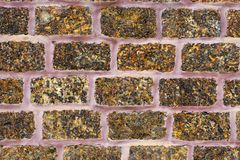 Texture of old brown wall brick  vintage style. Background Stock Image