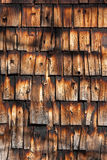 Texture of old burnt barn wall. Old cedar siding marked by fire Royalty Free Stock Image