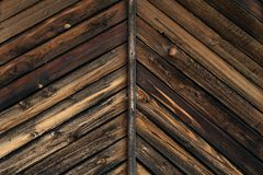 Texture of the old burnt in fire wooden boards royalty free stock image