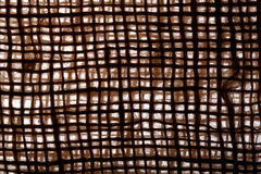 Texture old canvas jute fabric background Stock Photography