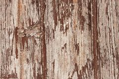 Texture, old chipped paint on wood, the impact of weather to paint a wooden Royalty Free Stock Photography