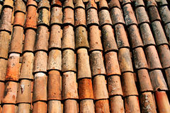 Texture of old clay tiles royalty free stock image