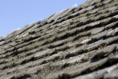 Texture of the old coating on the roof. Texture of the old coating of wood on the roof Royalty Free Stock Photo