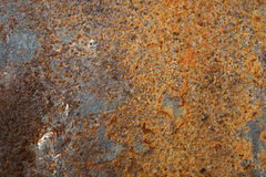Texture of old colorful rusty surface. Texture of old aged colorful rusty rough surface background Stock Images