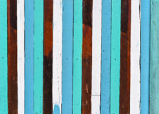 The texture of old colorful wooden wall Stock Photo