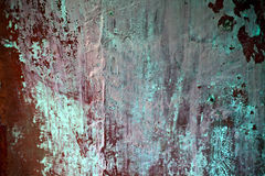 The texture of old concrete green wall Stock Images