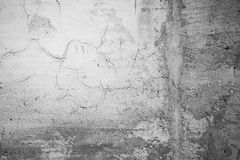 Texture of an old cracked concrete wall Royalty Free Stock Photography