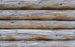 Texture of old cracked log wall Royalty Free Stock Image
