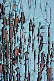 Texture of old cracked wood painted blue Stock Photos