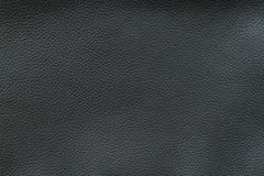 Texture of old crumpled black leather. Stock Photos