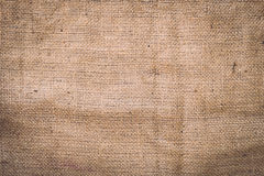 Texture of old crumpled burlap Stock Photography