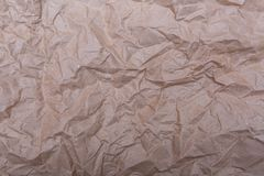 Texture of old crumpled paper. Background royalty free stock photos