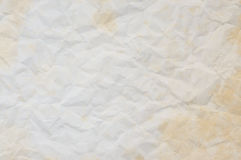 Texture of old crumpled paper Royalty Free Stock Photo