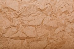 Texture of old crumpled paper. Isolated background royalty free stock photos