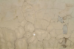 Texture of old damaged wall covered with green stucco Stock Photography