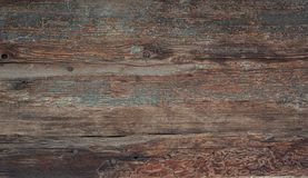 Texture of old dark wooden board stock image