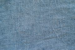 Texture old denim of blue color Royalty Free Stock Image