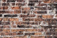 Texture of the old destroyed brick wall Royalty Free Stock Images