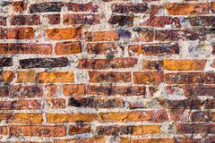 Texture of the old destroyed brick wall Royalty Free Stock Photography