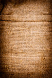 Texture of old dirty brown potato sack. Royalty Free Stock Photos