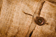 Texture of old dirty brown potato sack. Stock Photo