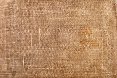 Texture of an old dirty sack Royalty Free Stock Photo
