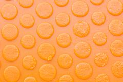 Texture of old and dirty sole of a orange slipper, background Royalty Free Stock Photography