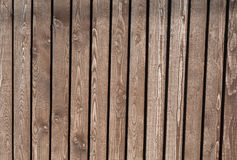 Texture of old fence of unpainted boards Royalty Free Stock Image