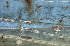 Texture of old fishing boat. Royalty Free Stock Photography