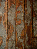 Texture of the old floor. Worn floorboards, exfoliated paint Royalty Free Stock Photos